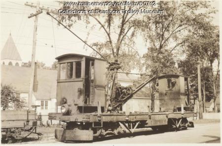Portland Railroad Company's crane car #1000, Portland, ca. 1940