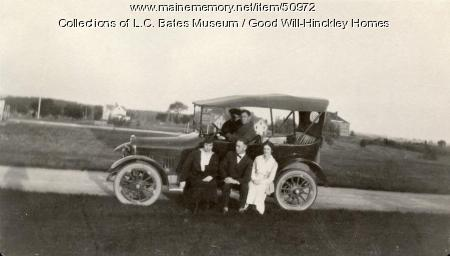Teachers and Model T, Fairfield, ca.1920