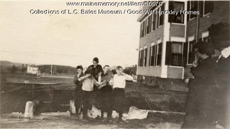 Ice cream making, Fairfield, ca. 1920