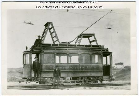 Construction car, Portland, ca. 1920