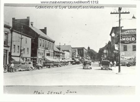 Main Street, Saco, ca. 1935