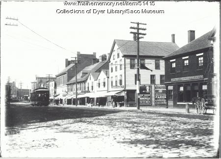 Main Street, Saco, ca. 1920