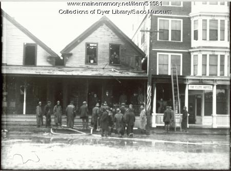 Damage of Somesville Fire, Saco, 1908