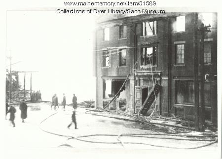 Saco House Fire, 1912