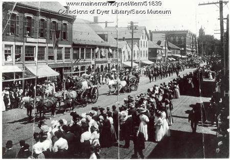 Parade on Main Street, Saco, ca. 1905