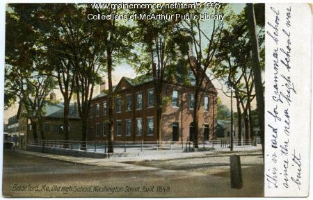 Old Biddeford High School, Washington Street, ca. 1910