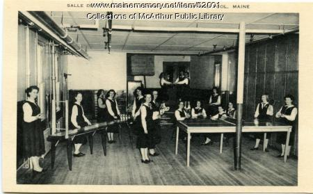 """Salle de Recreation"" at Marie-Joseph Academy, Biddeford Pool, ca. 1950"