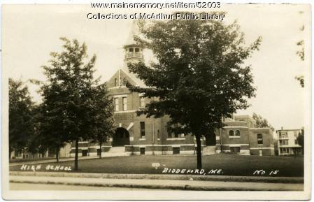 Biddeford High School, Alfred Street, ca. 1910