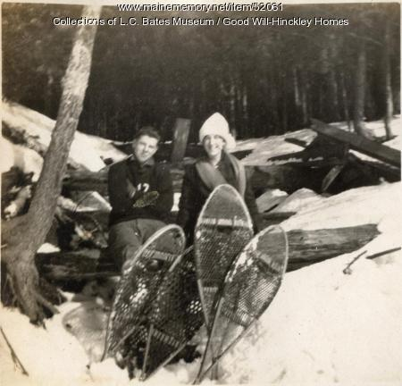 Snowshoeing, Fairfield, 1917