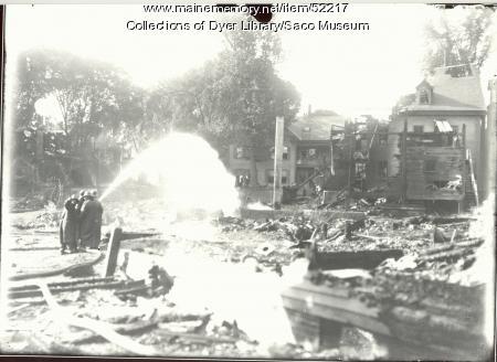 Harmon's Corner Fire, Saco, 1911