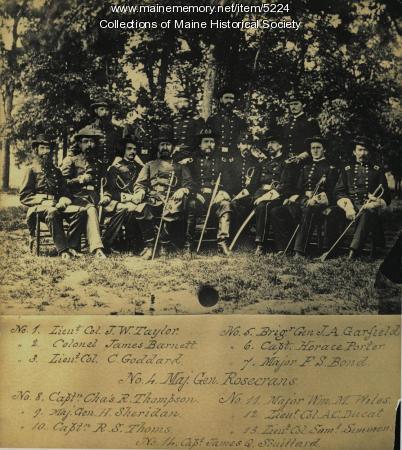 Major General Rosecrans and staff