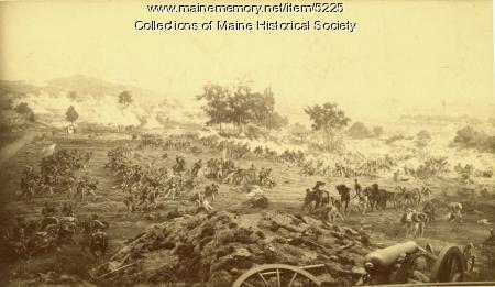 Battle of Gettysburg painting, 1884