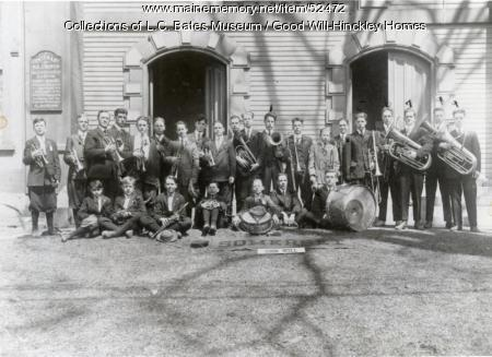 Good Will High School Band, Skowhegan, ca. 1914