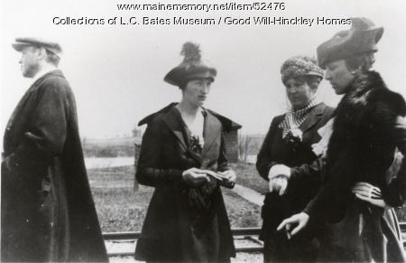 Waiting at Hinckley Station, Fairfield, 1918
