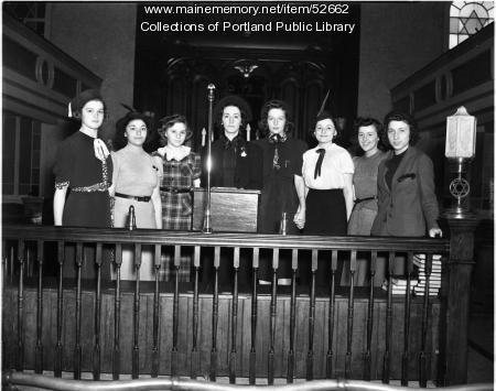 Confirmation, Shaarey Tphiloh, Portland, 1938