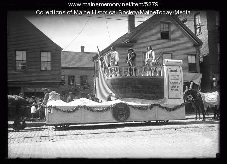 Maine Centennial Parade float, 'Dawn of Discovery,' Portland, 1920
