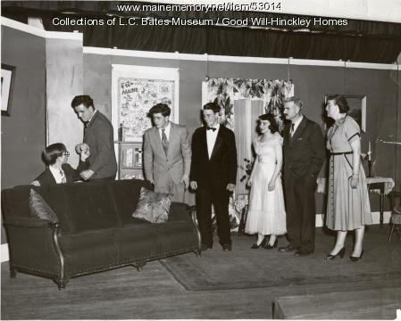 Woodshed Players theater group, Fairfield, ca. 1955