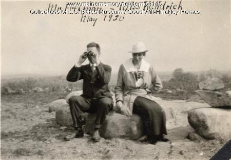 Mr. Freeman and Miss Kendrick, Fairfield, 1920