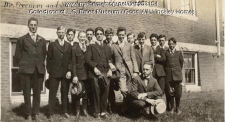 Mr. Freeman and his Sunday School Class, Fairfield, 1918