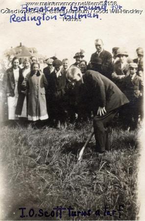 Ground Breaking for Gilman/Redington Cottage, Fairfield, 1915
