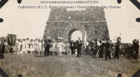World War I Memorial Dedication, Fairfield, 1925