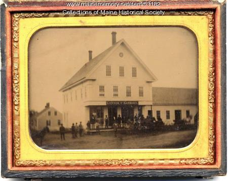 Connor and Hathorn Building, Pittsfield, ca. 1860