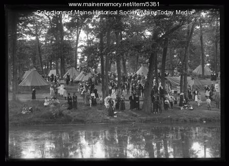 Wabanaki encampment at Deering Oaks Park during Centennial, Portland, 1920