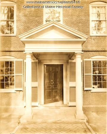 Doorway, Wadsworth-Longfellow House, Portland, ca. 1902