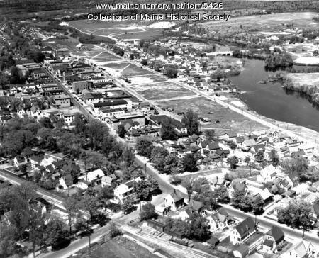 Aerial view of Millinocket, 1948