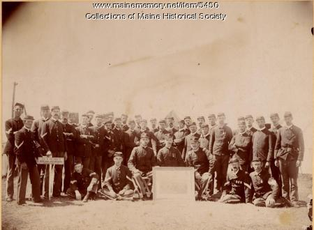 Company A, 1st Regiment, Augusta, ca. 1892