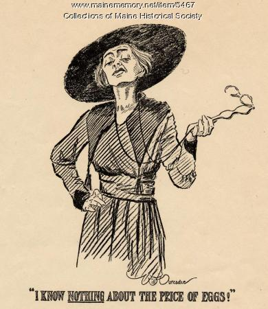 Cartoon supporting woman suffrage