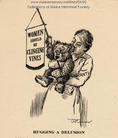 Suffrage cartoon, ca. 1917