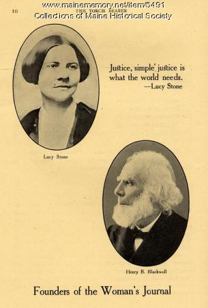 Lucy Stone, Henry B. Blackwell, 1916