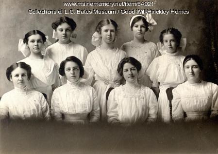 Good Will girls Class of 1912, Fairfield, 1912