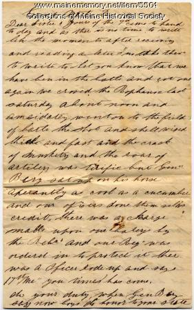 Meshach P. Larry on events of the Battle of Fredericksburg , Dec. 18, 1862