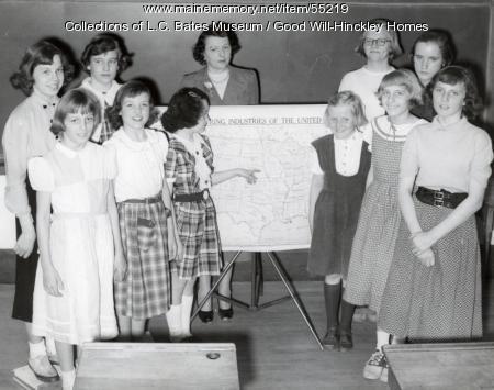 Girls class, Fairfield, ca. 1950