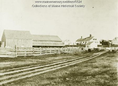 Ebenezer Libby Homestead, Scarborough, ca. 1900