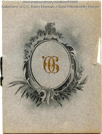 Good Will High School graduation program cover, Fairfield, 1906