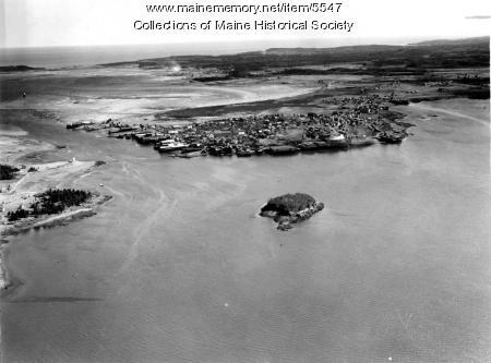 Aerial view looking toward Lubec, ca. 1950