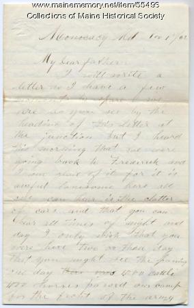 Pvt. John Sheahan on conditions in cavalry, Maryland, 1862