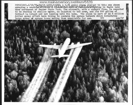 Spruce budworm spraying, 1979