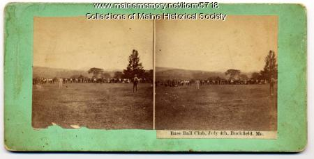 Baseball club in Buckfield, ca. 1900