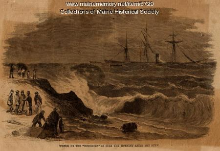 SHIP-WRECK OF THE STEAMER BOHEMIAN SUNK PORTLAND MAINE