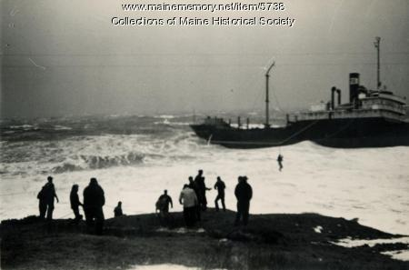 Rescue of Oakey L. Alexander crew, Cape Elizabeth, 1947