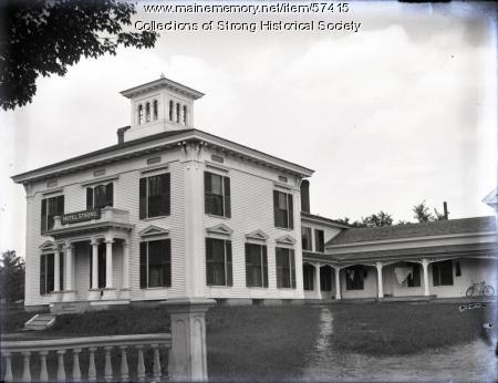 Hotel Strong, Lower Main Street, Strong, ca. 1902