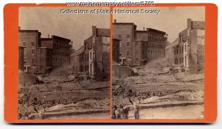 Result of fire, Belfast, 1885