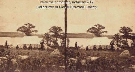 Encampment at North Bridgton, 1862