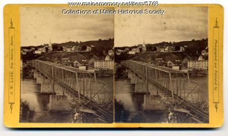 Railroad bridge over the Kennebec River