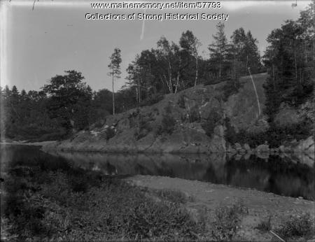 Blue Ledge on the Sandy River, Strong, ca. 1905
