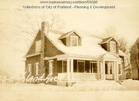 43 Highland Street, Portland, 1924